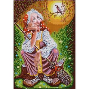 Бабушка Яга Ткань с нанесенным рисунком для вышивки бисером Конек 9995