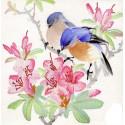 Птицы на ветке Ткань с нанесенным рисунком для вышивки бисером Конек 8487