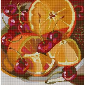 Апельсин Ткань с нанесенным рисунком для вышивки бисером Конек 1255