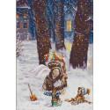 Зимнее счастье Ткань с нанесенным рисунком для вышивки бисером Конек 1262