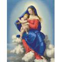 Мадонна с младенцем в славе Ткань с нанесенным рисунком для вышивки бисером Конек 8465