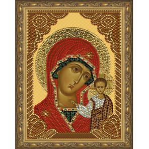 Казанская Божия Матерь Картина 5D алмазная мозаика с нанесенной рамкой KM0177