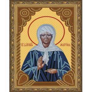 Матрона Московская Картина 5D алмазная мозаика с нанесенной рамкой KM0180