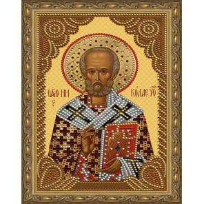 Николай Чудотворец Картина 5D алмазная мозаика с нанесенной рамкой KM0178