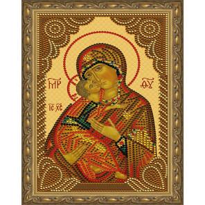 Владимирская Божия Матерь Картина 5D алмазная мозаика с нанесенной рамкой KM0185