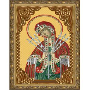 Семистрельная Божия Матерь Картина 5D алмазная мозаика с нанесенной рамкой KM0182
