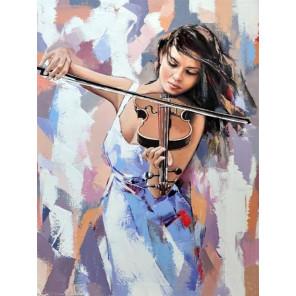 Звуки музыки Раскраска картина по номерам на холсте с цветной схемой KK0032