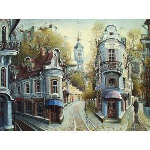 Улочки старой Москвы Раскраска картина по номерам на холсте с цветной схемой KK0012