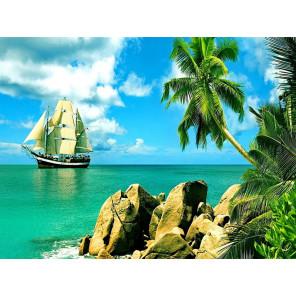 Сейшельские острова Раскраска картина по номерам на холсте с цветной схемой KK0020