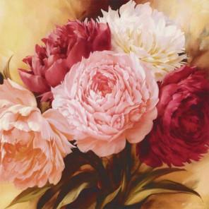 Оттенки розового Раскраска картина по номерам на холсте KH0390