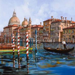 Каналы Венеции Раскраска картина по номерам на холсте KH0394