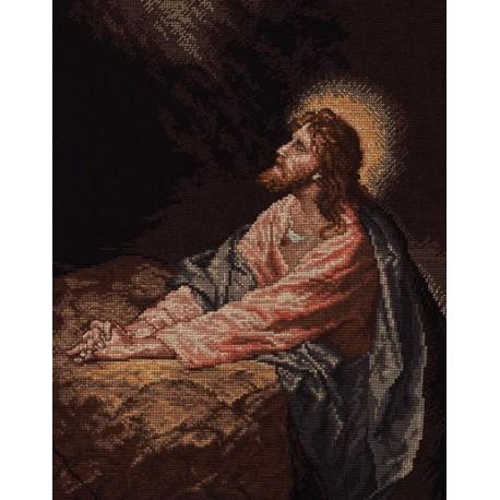 Набор для вышивания: Христос в Гефсиманском саду, счетный крест