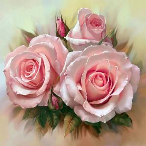 Розовое трио Раскраска картина по номерам на холсте KH0370