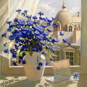 Вид из окна Раскраска картина по номерам на холсте KH0378