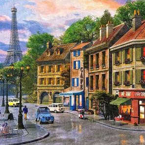 Улочки Парижа Раскраска картина по номерам на холсте KH0380