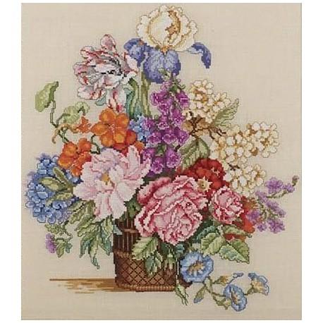 Набор для вышивания: Весенний букет, счетный крест
