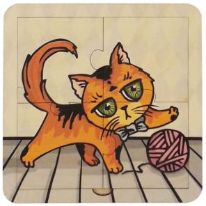 Котёнок Пазл деревянный 4 детали 6310011