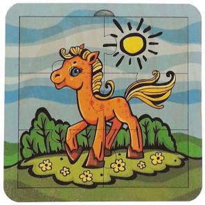 Лошадка Пазл деревянный 6 деталей 6310051