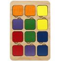 Найди пару 6 цветов, 12 деталей Игра развивающая 6201361