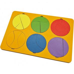 Собери круг 6 фигур (уровень 1) Игра логическая 6301361