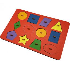 Геометрия Монтессори цветная Игра логическая 6301401