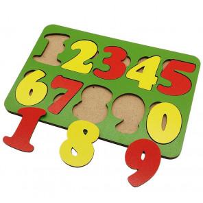 Цифры 10 знаков Игра развивающая деревянная 6101091