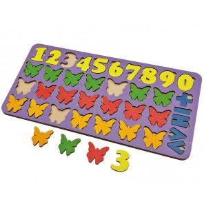 Бабочки арифметика Игра развивающая деревянная 6101211