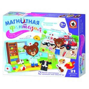 Мишка и его профессии Игра на магнитах с магнитным полем 5407