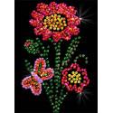 Цветочек Набор для создания картины из пайеток М007