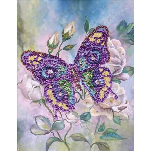 Бабочка Набор для создания картины из пайеток на холсте МХ-15