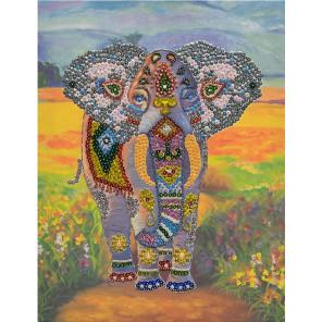 Слон Набор для создания картины из пайеток на холсте МХ-03