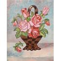 Букет роз Набор для создания картины из пайеток на холсте МХ-16