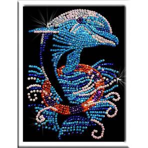Дельфин Набор для создания картины из пайеток 011