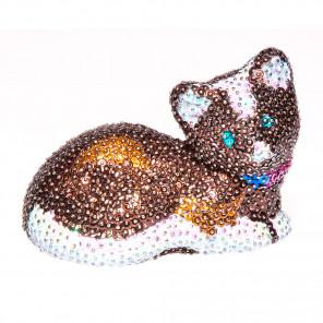 Кошка 3D Набор для декорирования фигуры пайетками 3D-01