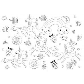 Единороги Многоразовая раскраска-коврик для творчества mr-109