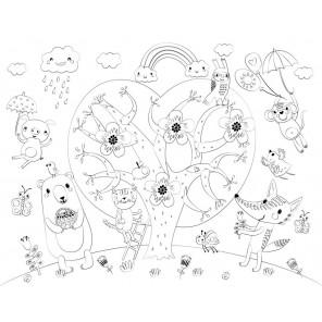 Сказочное дерево Многоразовая раскраска-коврик для творчества mr-105