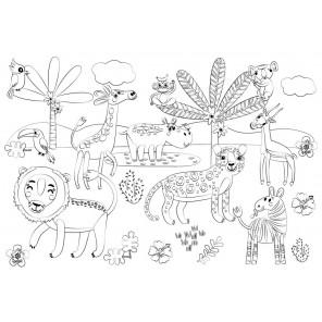 Африка Многоразовая раскраска-коврик для творчества mr-108