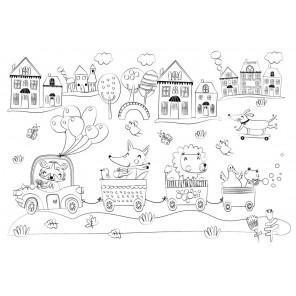 Путешествие Многоразовая раскраска-коврик для творчества mr-111
