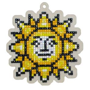 Солнышко Алмазная мозаика подвеска Гранни Wood W0295