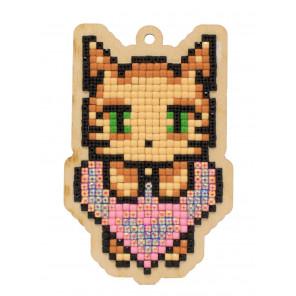 Любовь кота Алмазная мозаика подвеска Гранни Wood W0334