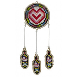 Ловец любви Алмазная мозаика подвеска Гранни Wood W0205