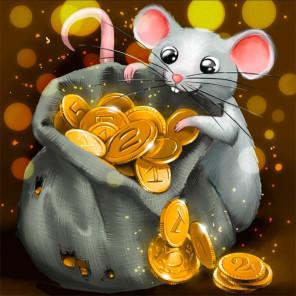 Крысенок и клад Алмазная вышивка мозаика АЖ-1810