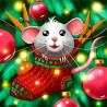 Крысенок в носке Алмазная вышивка мозаика