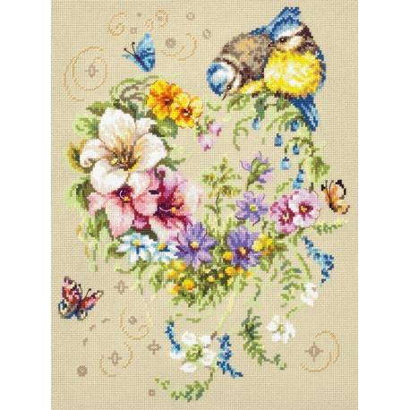 Мелодия сердца Набор для вышивания Чудесная игла 100-142