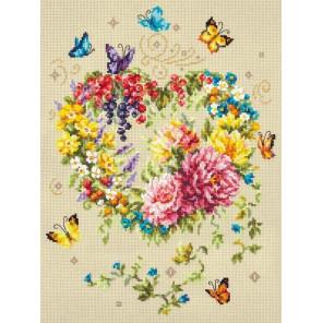 Нежность сердца Набор для вышивания Чудесная игла 100-143