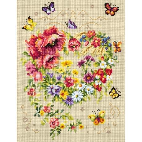 Сияние сердца Набор для вышивания Чудесная игла 100-144