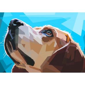 Наблюдательный пес Алмазная вышивка мозаика Гранни AG2328