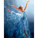 Балерина в голубом Алмазная вышивка мозаика Гранни AG2334