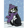 Зимний кот Алмазная вышивка мозаика Гранни AG2349