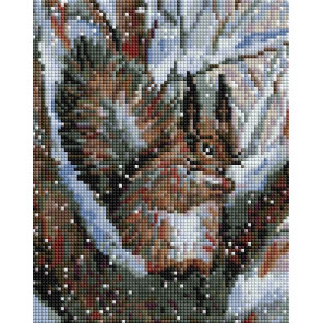 Белочка в зимнем лесу Алмазная вышивка мозаика Белоснежка 427-ST-PS